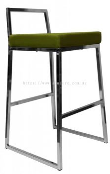 High bar stool with backrest AIM819-H