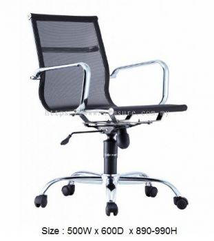 Presidential Low back mesh chair with chrome body frame AIM-LA3LB