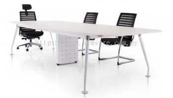 Rectangular conference table with ixia leg n riser box
