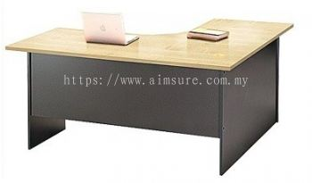 L shape table with particle board