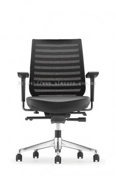 Presidential Medium Back Netting chair AIM8212L-AHB (Front view)