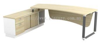Unique White Director table AIMQ-2402-OXL-ID(Back View)