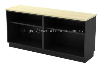 Dual Open Shelf Low Cabinet T2