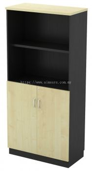 T2 Semi Open Shelf (2tiers) with Swinging Door Cabinet