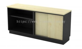 Open Shelf + Sliding Door Low Cabinet T2