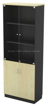 High Cabinet Swinging Door with Glass T2