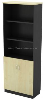 High Open Shelf (3tiers) with Swinging Door Cabinet