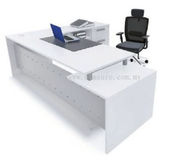 Director table with side return AIM7HD-1-White solution(Front view)
