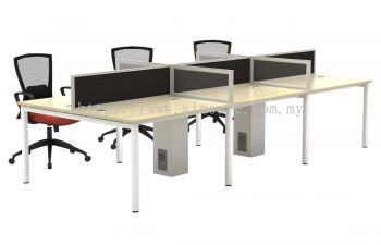 Workstation Cluster of 6 with U metal leg