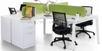 4 pax Citrine leg workstation