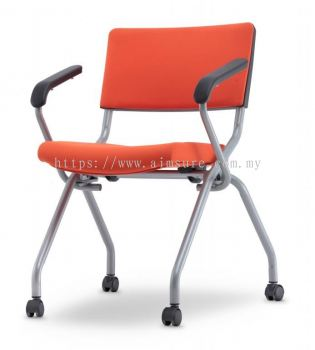 Executive cushion folding chair with armrest AIM2PA-AXIS