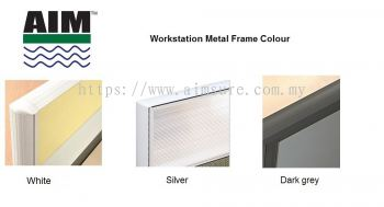 Workstation frame colour White,Silver,Dark Grey