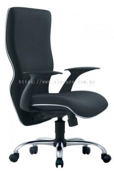 Presidential high back chair with chrome line and base AIM661A-ELIXIR