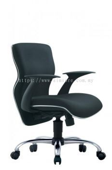 Presidential low back chair with chrome line and base AIM663A-ELIXIR