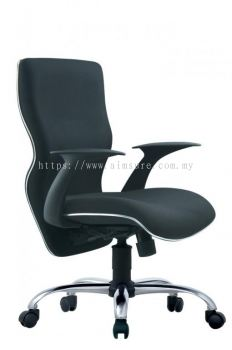 Presidential medium back chair with chrome line and base AIM662A-ELIXIR