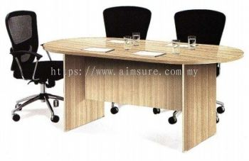Oval meeting table boras ash