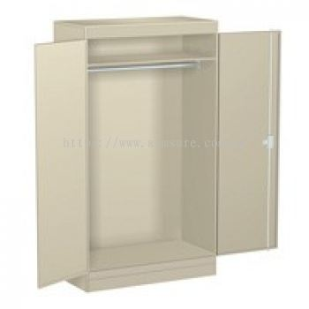 Full height swing door cabinet with rod