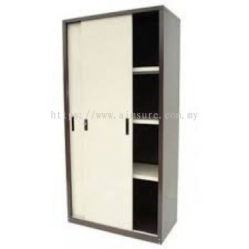 Full height sliding door steel cabinet