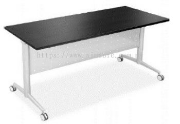 Heavy duty Foldable table with wheel Axis 2