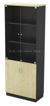Full height cabinet with glass
