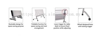 Heavy duty foldable table with custor A1 specification