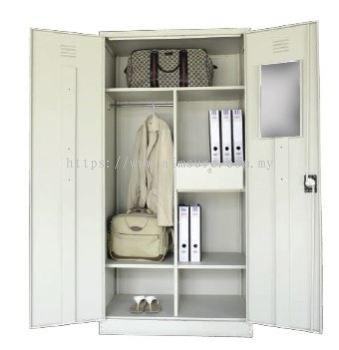 Full height wardrobe with steel swing door S198