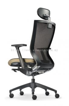 MX Presidential high back chair AIM8111N-NHB(back view)