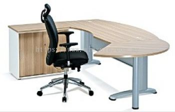 Executive L shape table with sliding door cabinet AIM180A