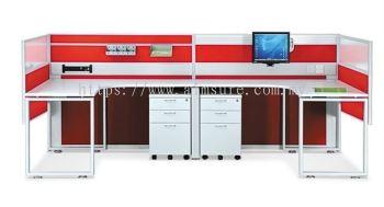 2 Pax U Shape Desking System (AIM28-C2-1-L-MV)