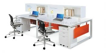 4 Pax AIM Desking System (AIM28-C2-2-SN)