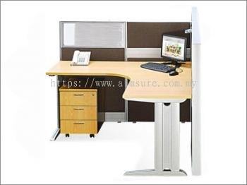 Single Office Workstation (AIM80-C4-2-LN-ST-TS)