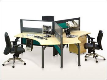 3 Seat Office Pole System (AIM-C3-1-YS-PS)