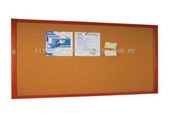 Notice Board Wooden Frame Cabinet Cork Board