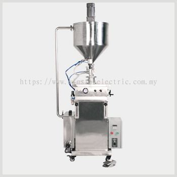 W-F700-V100-1000 100-1000grams vertical paste Filling Mahcine With heating and stirrer system