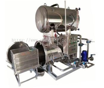 2.6m3 Electrical heating high pressure Horizontal mushroom /can/pouch sterilizer autoclave retort machine