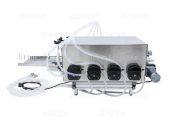 W-F700-AY14 4 nozzle Peristaltic Pump Automatic Desktop Liquid Filling Machine - 1ml to unlimited volume range