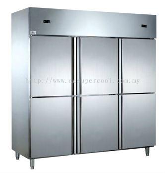 6 Door Magnetic S/Steel Chiller/Freezer