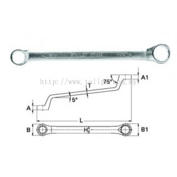 75 degree Offset Ring End Wrench