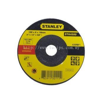 "Stanley 4"" (100 x 6.0 x 16mm) grinding disc"