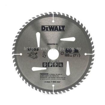 DWA03760 Dewalt 7 inch (185 x 25.4 x 60T) TCT wood saw blade