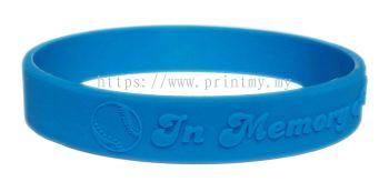 Emboss Silicone bracelet