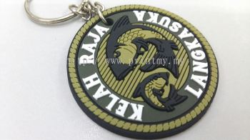 Key chain silicone emboss with color