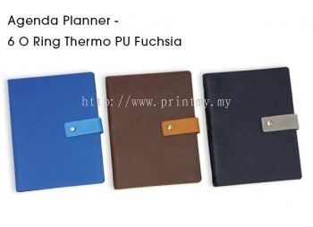 Planner 2020 with 6 O Ring Thermo PU Fuchsia
