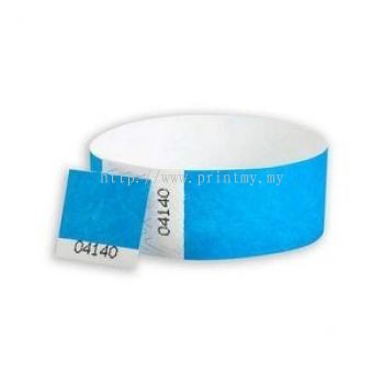 Tyvek wristbands with detachable Stub