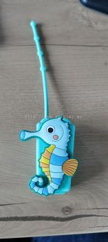 Hand sanitizer Cute Seahorses PVC holder with 30ml bottle