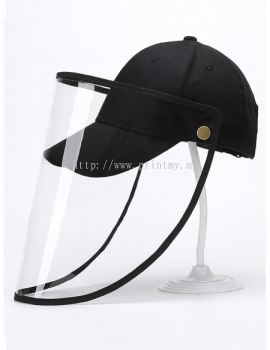 Protection Cap with Removable Protective Face Shield Reusable Anti Splash Face Mask Protection Hat