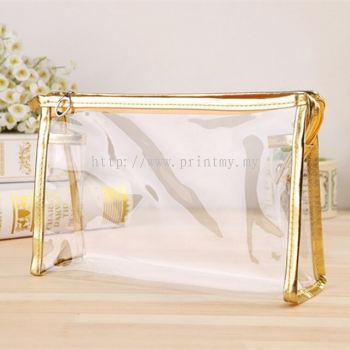 Cosmetic Bag Gold color Edge