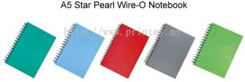 A5 Star Pearl Wire-O Notebook