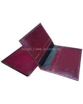 Leather Card Holder Fold