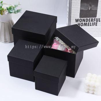 Black Colour Gift Box Square Size